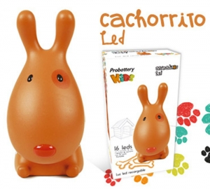 Velador Recargable De 16 Leds Cachorrito Marron