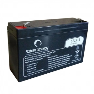 Bateria De Electrolito Absorbido 6v 12Ah Safety Energy