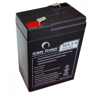 Bateria De Electrolito Absorbido 6v 4.5Ah Safety Energy